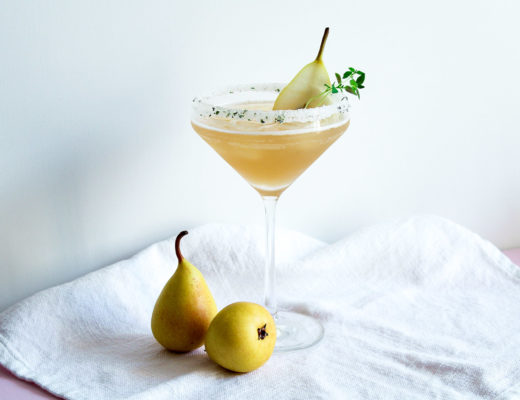 Ingwer Birnen Bourbon Cocktail