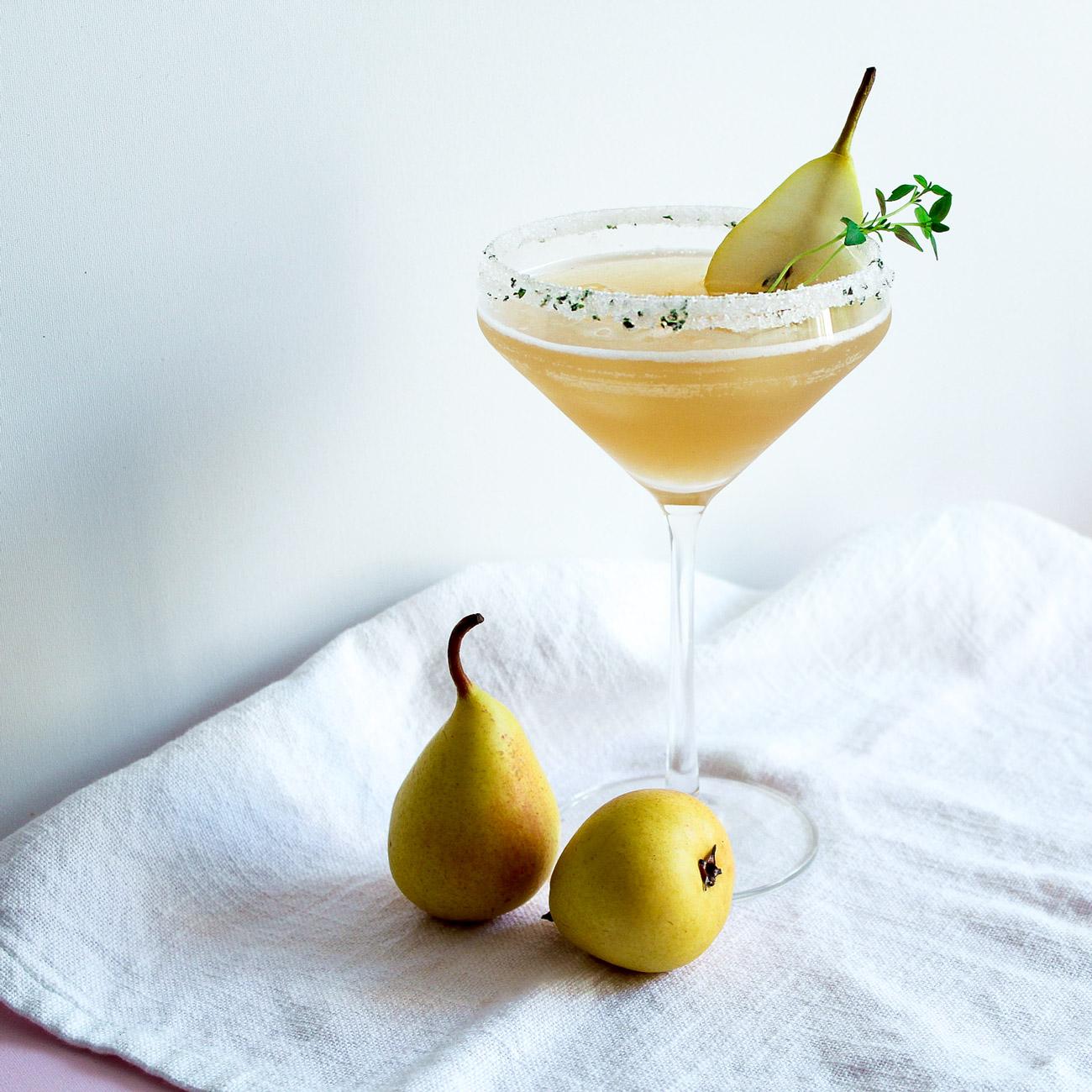 Ingwer Birnen Bourbon Cocktail